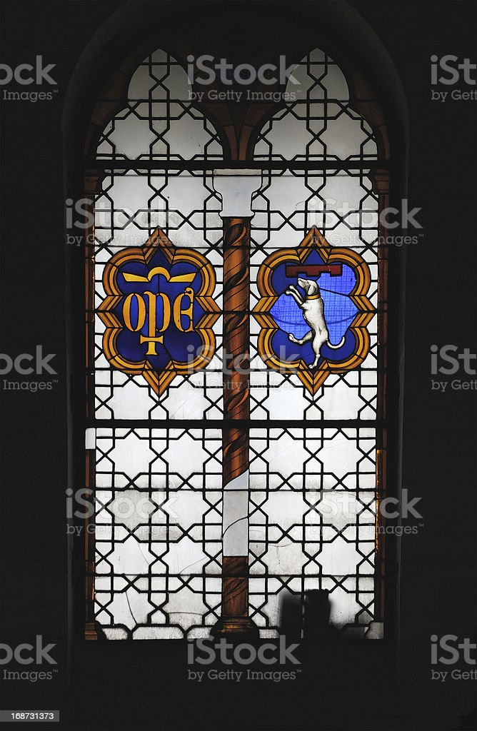 Italian stained glass royalty-free stock photo