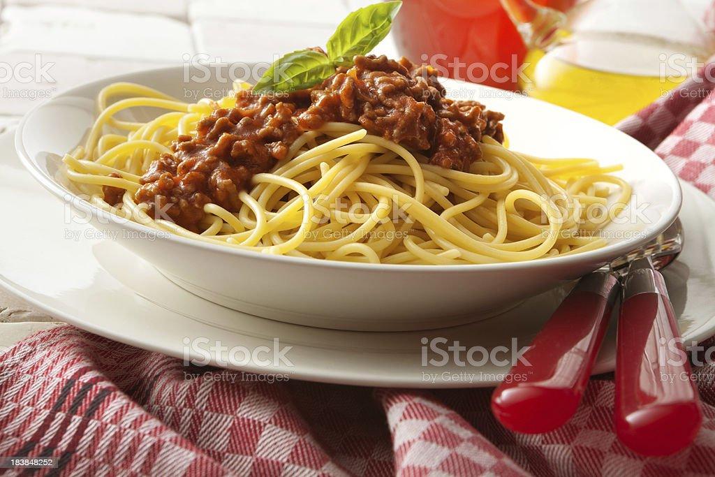 Italian Stills: Spaghetti Bolognese royalty-free stock photo