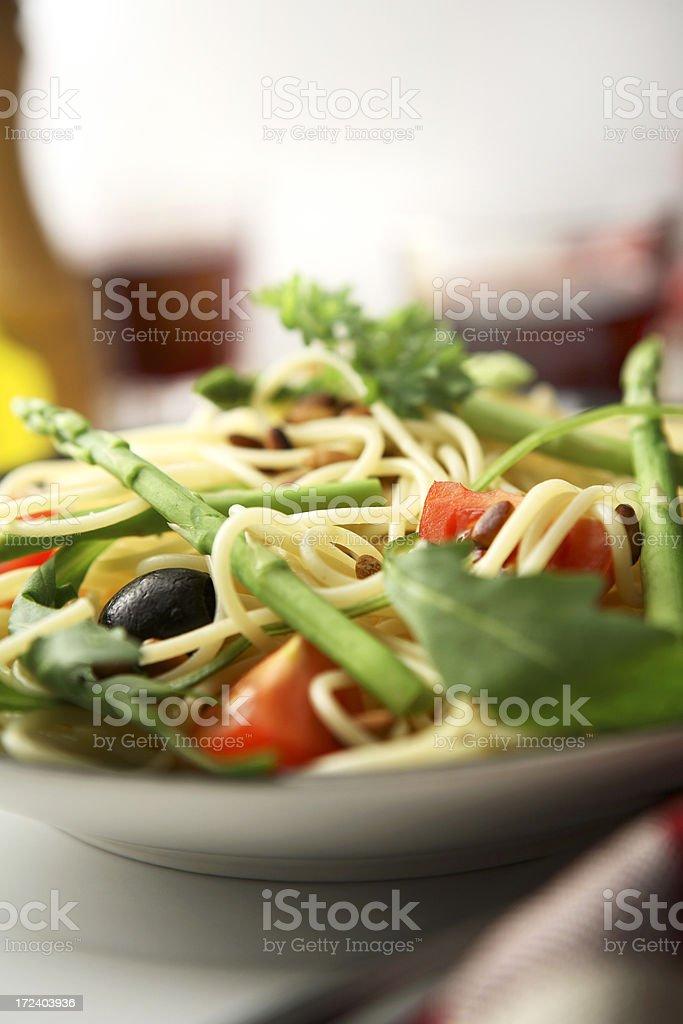 Italian Stills: Spaghetti Vegetarian royalty-free stock photo