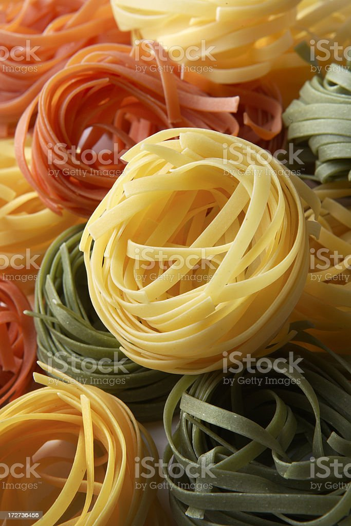 Italian Stills: Tagliatelle Tricolori royalty-free stock photo