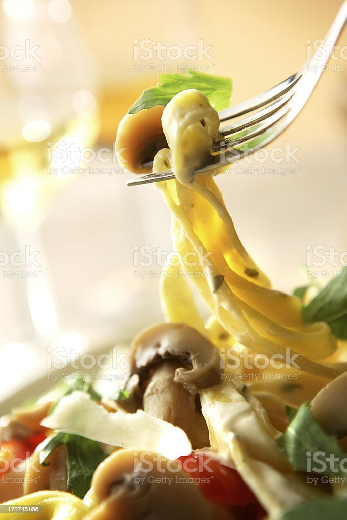 Italian Stills: Tagliatelle with Mushrooms royalty-free stock photo