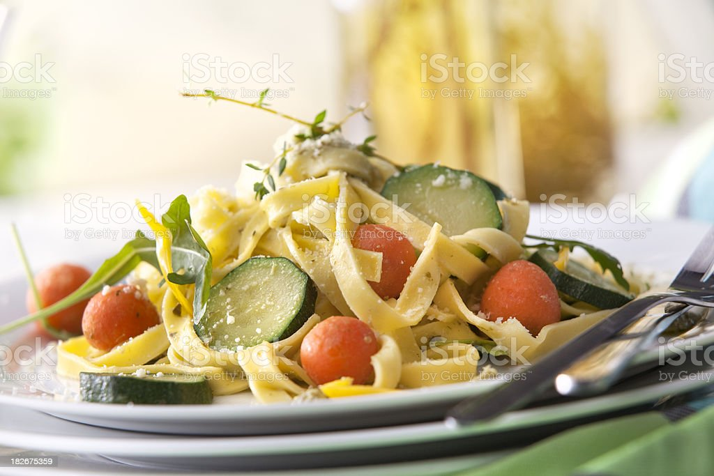 Italian Stills: Tagliatelle with Vegetables royalty-free stock photo