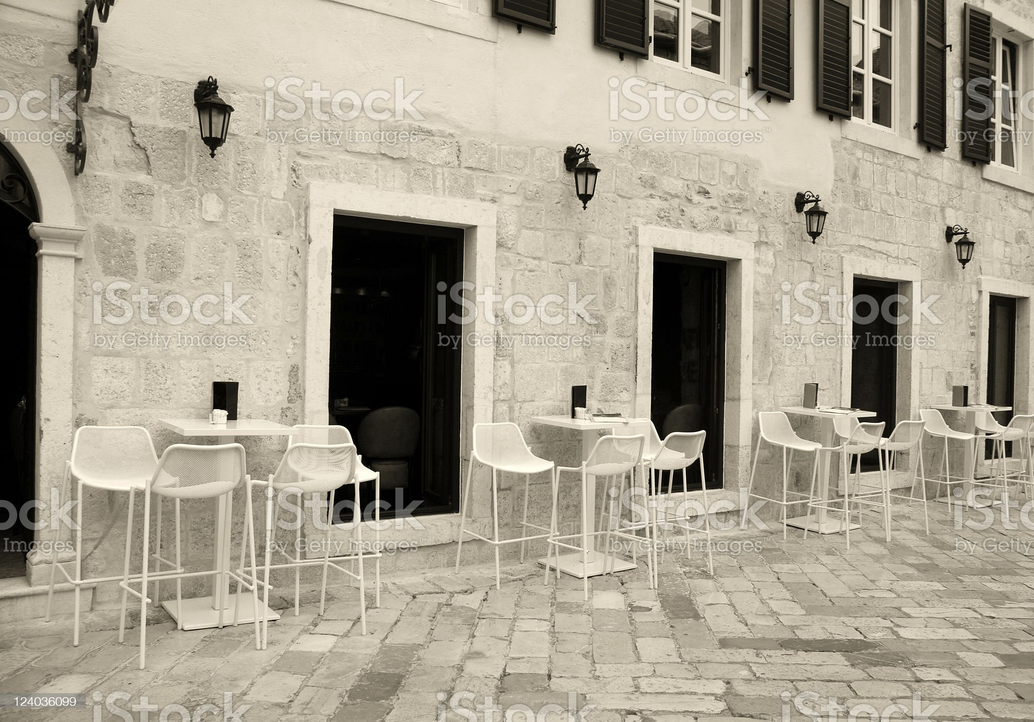 Italian street cafe royalty-free stock photo