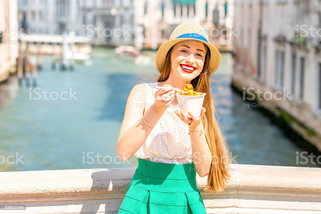 Italian street food in Venice stock photo