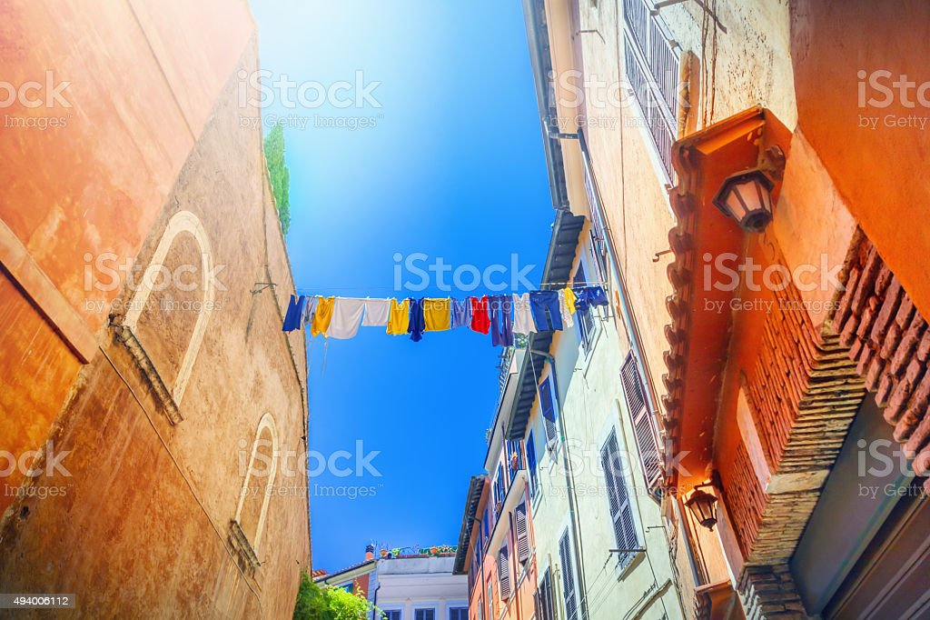 Italian street stock photo