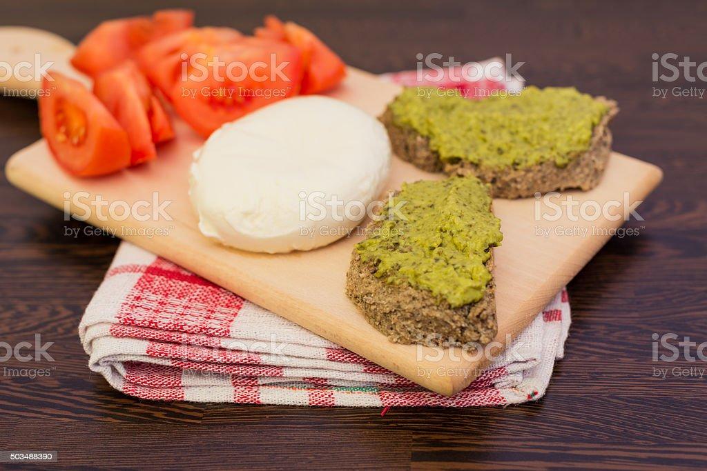 Italian Style Breakfast stock photo