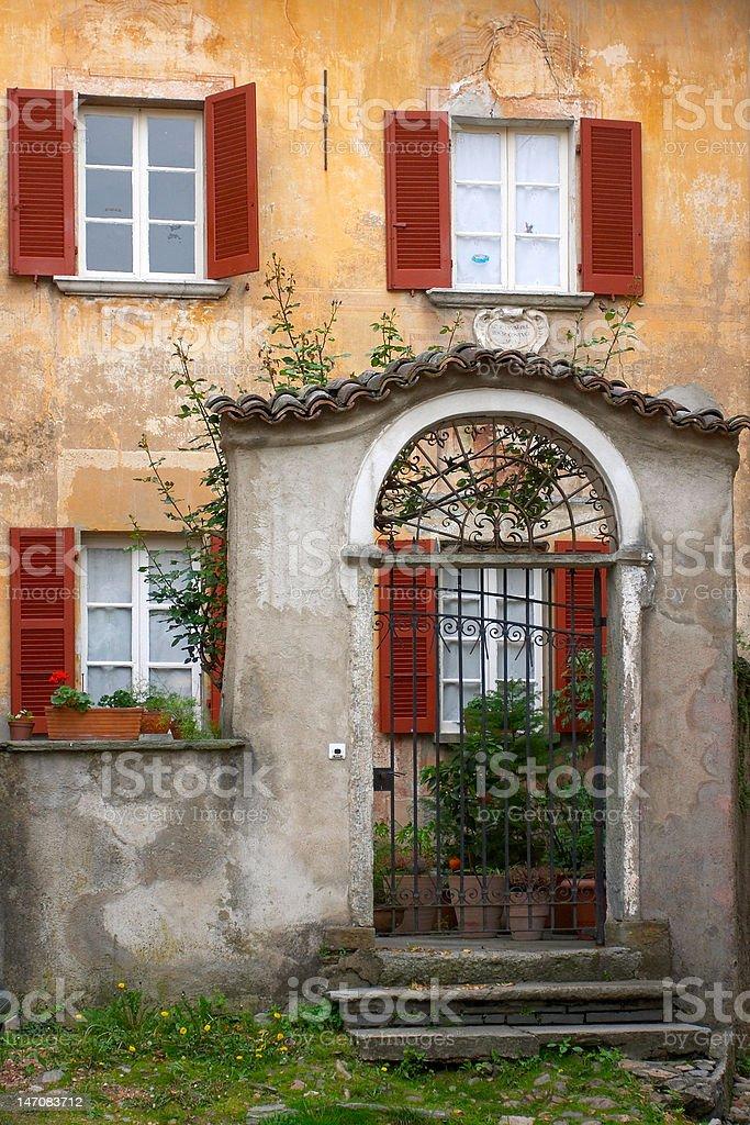 Italian style house entrance royalty-free stock photo