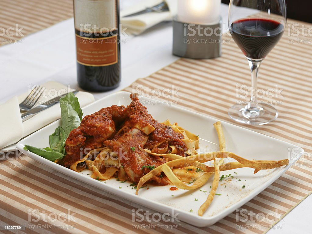 Italian style Lunch stock photo