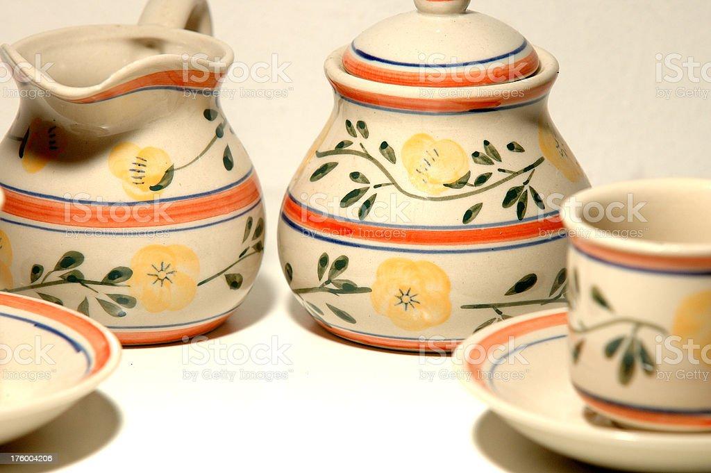 Italian style pottery royalty-free stock photo