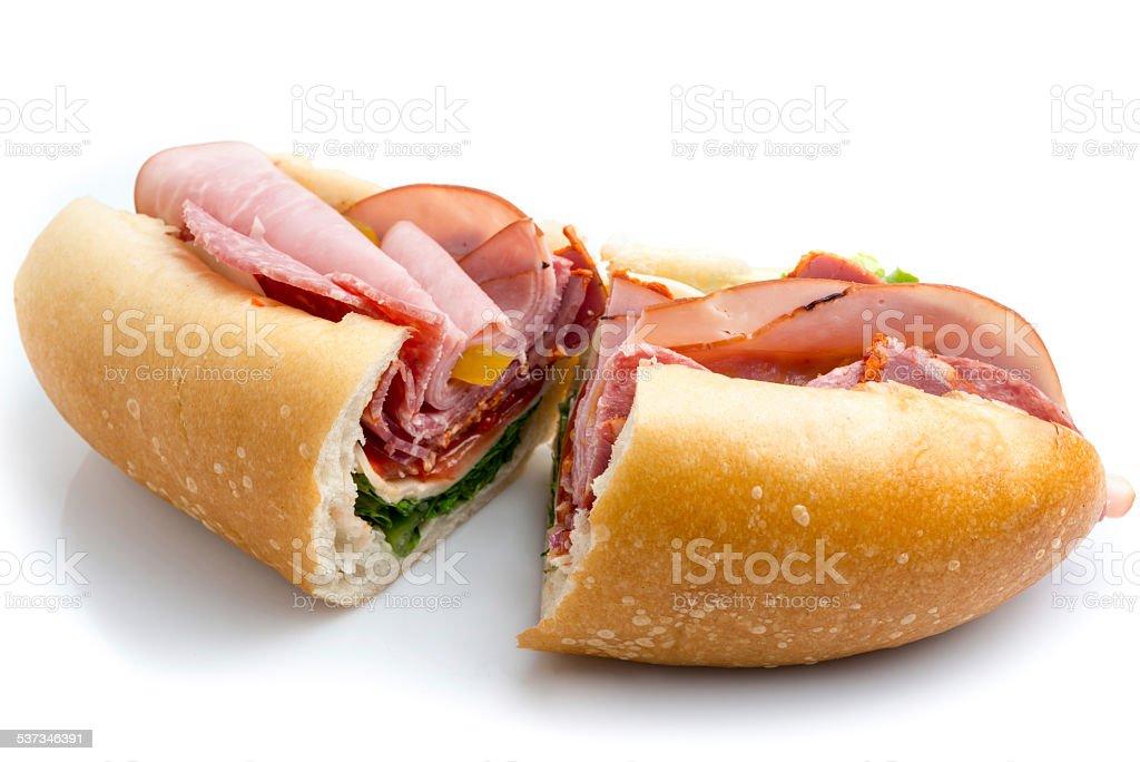 Italian Submarine Sandwich stock photo