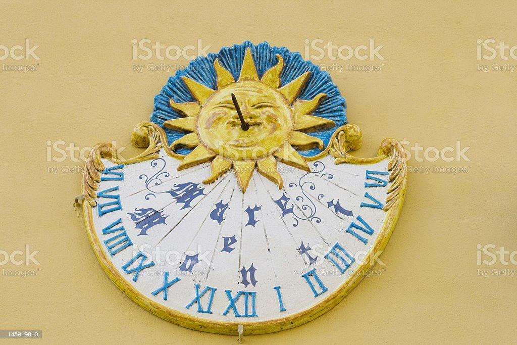 Italian sundial royalty-free stock photo