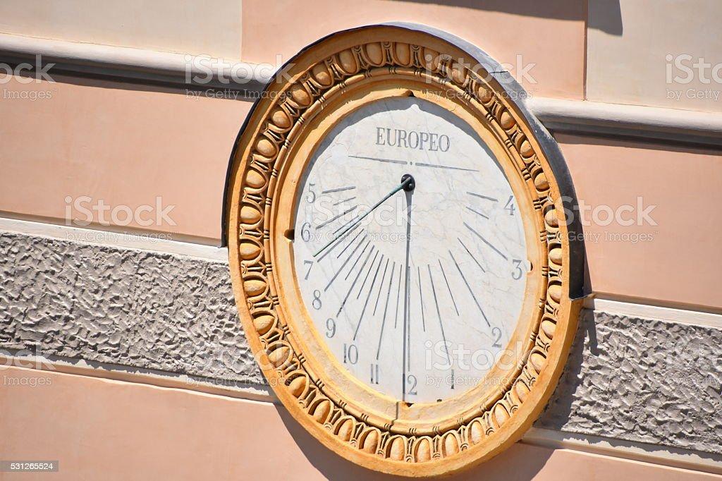 Italian sundial stock photo
