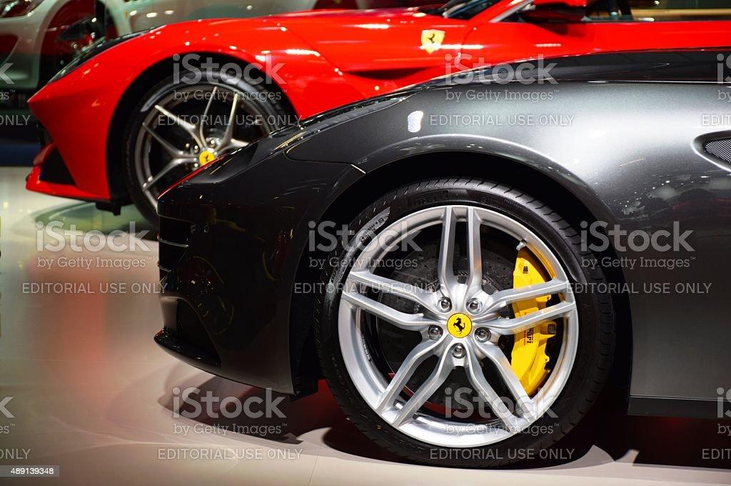 Italian supercars in a row stock photo