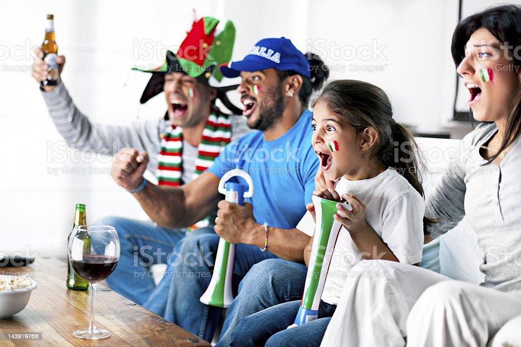 Italian supporters stock photo