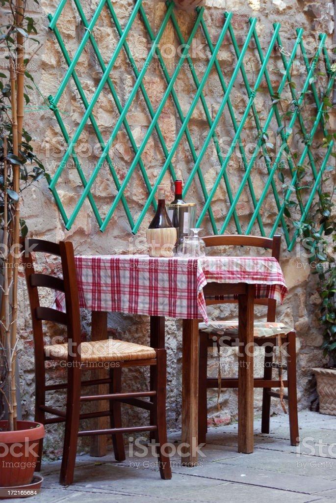 italian table royalty-free stock photo