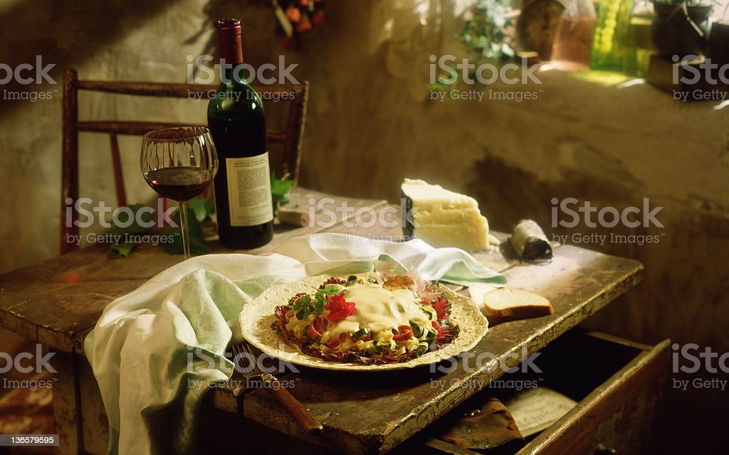 Italian Table Setting. Royalty Free Stock Photo