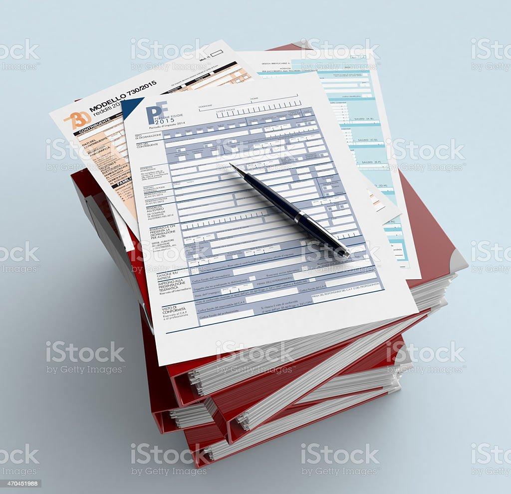 Italian taxes stock photo