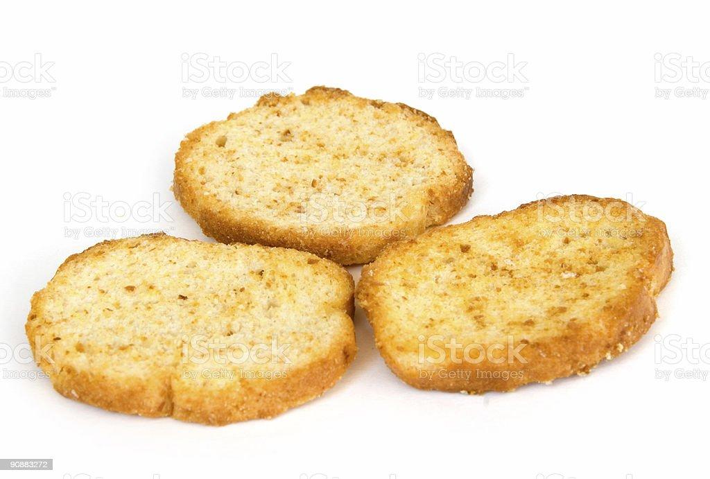 Italian toast on white royalty-free stock photo