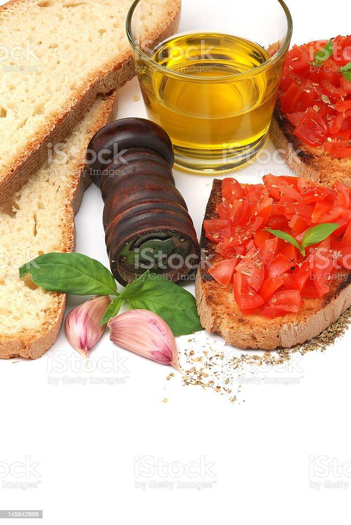 Italian tomato bruschetta royalty-free stock photo
