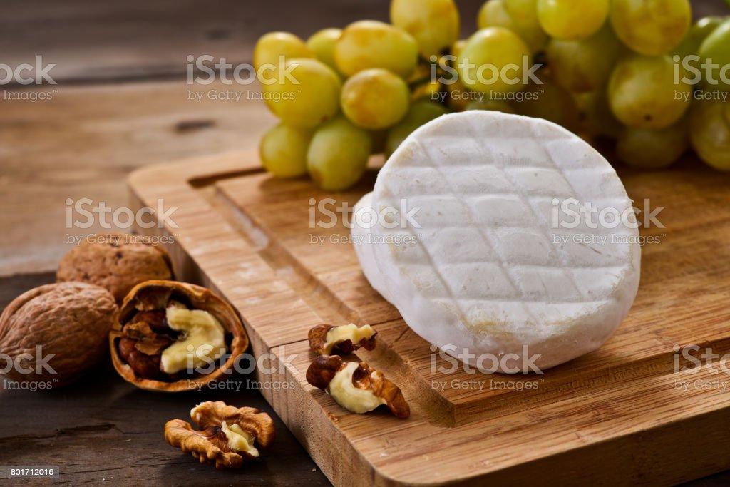 Italian tomino cheese stock photo