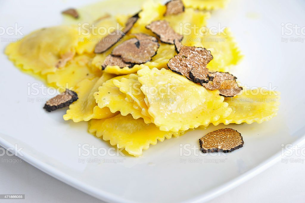 Italian Tortelli with Tartufo royalty-free stock photo