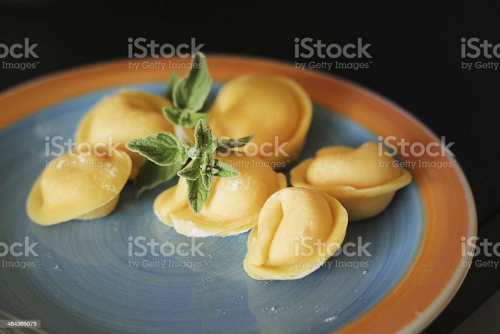Italian tortellini royalty-free stock photo