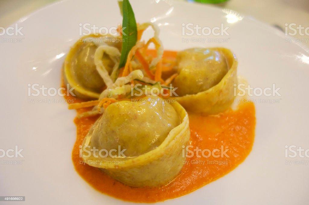 Italian Tortelloni stock photo