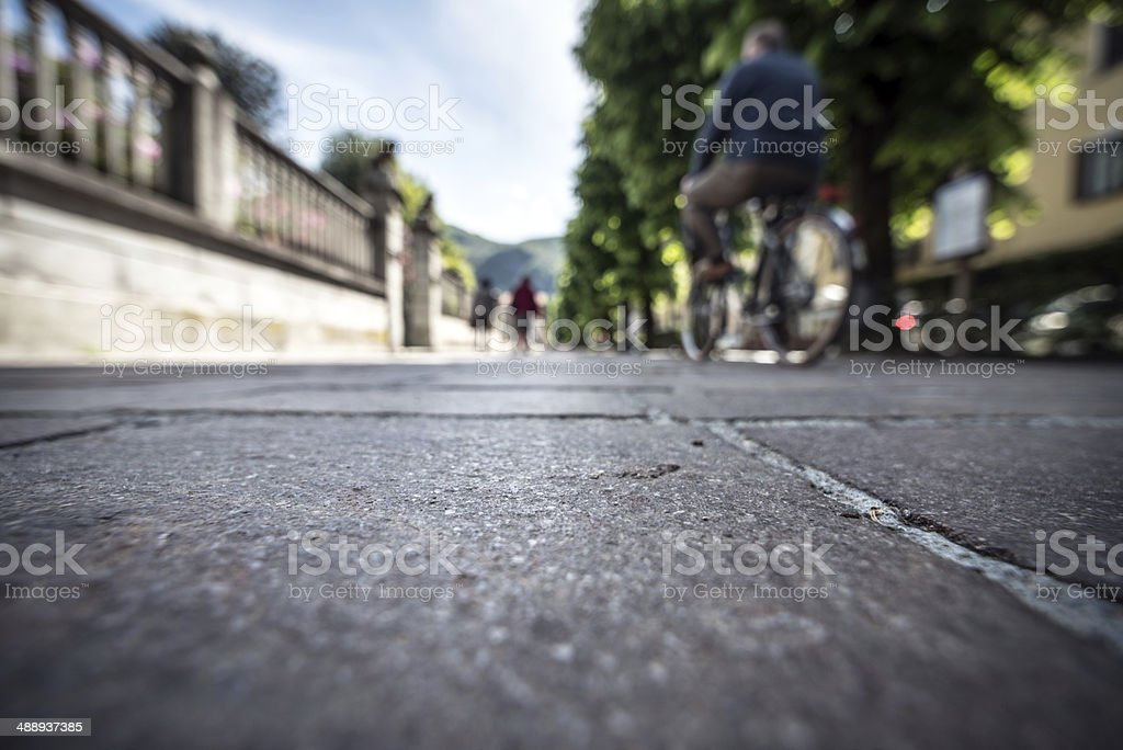 Italian town low angle view street photography stock photo