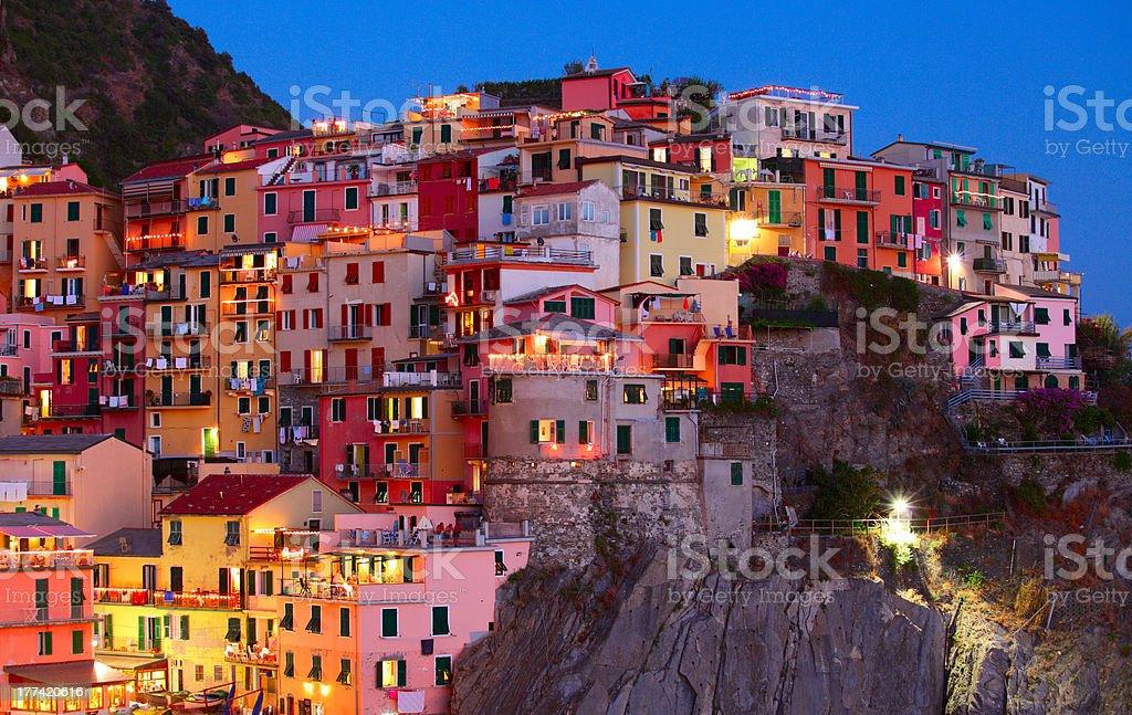 Italian town stock photo