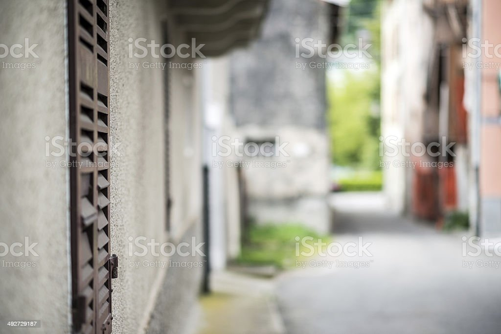 Italian town selective focus street background royalty-free stock photo