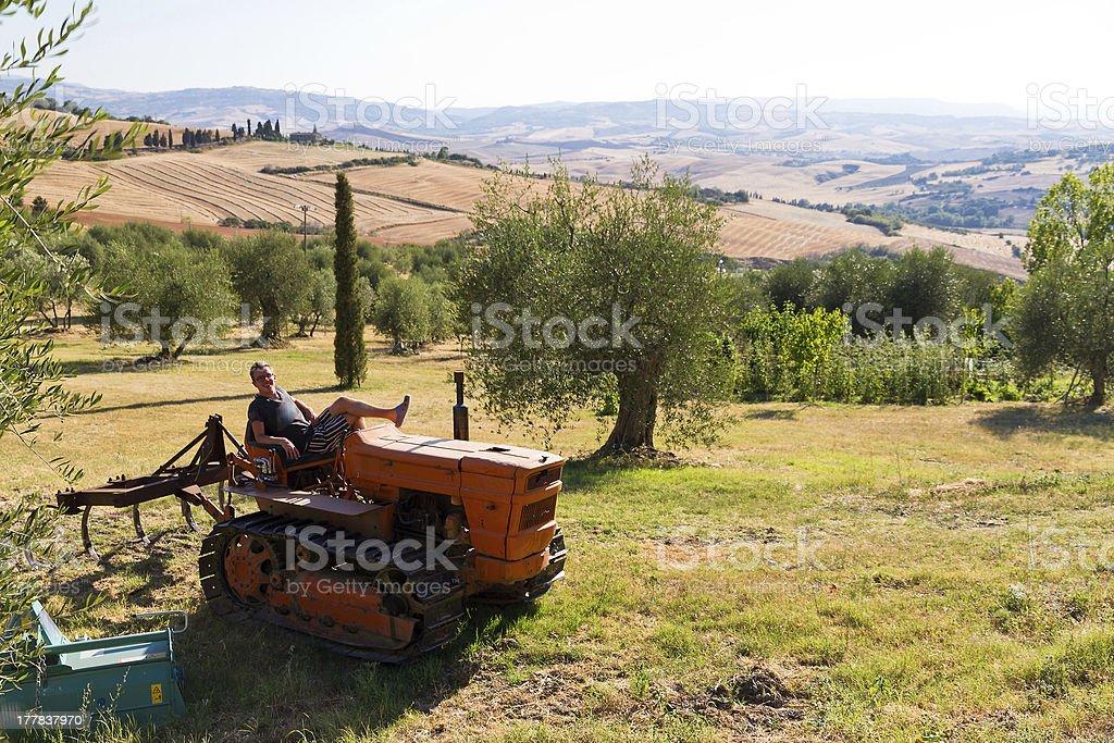 Italian tractor royalty-free stock photo