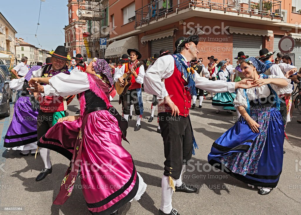 italian traditional dance stock photo