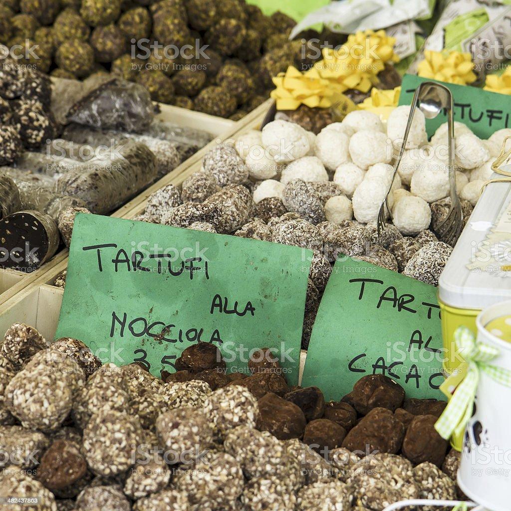 Italian Truffle Sweets royalty-free stock photo
