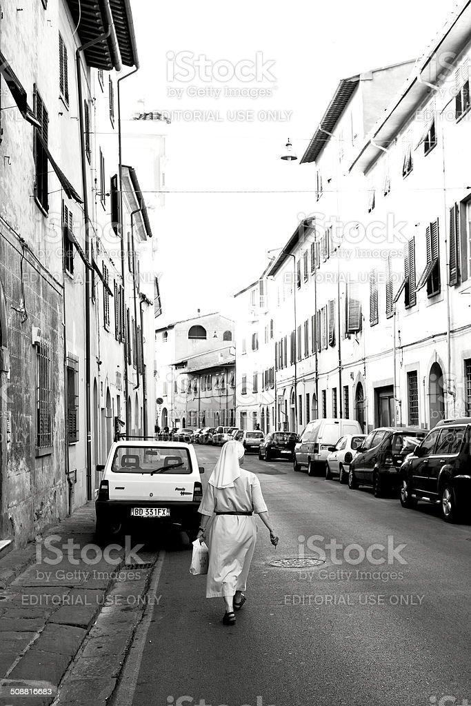 Italian urban scene stock photo