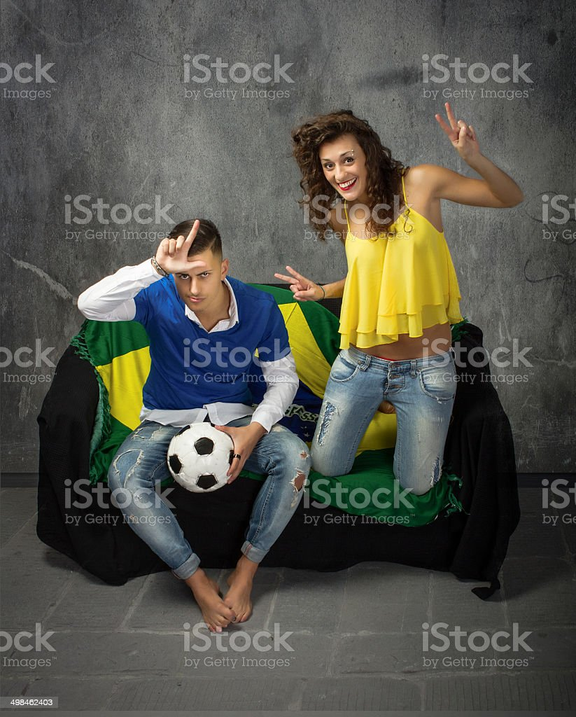 italian versus brasil football match stock photo