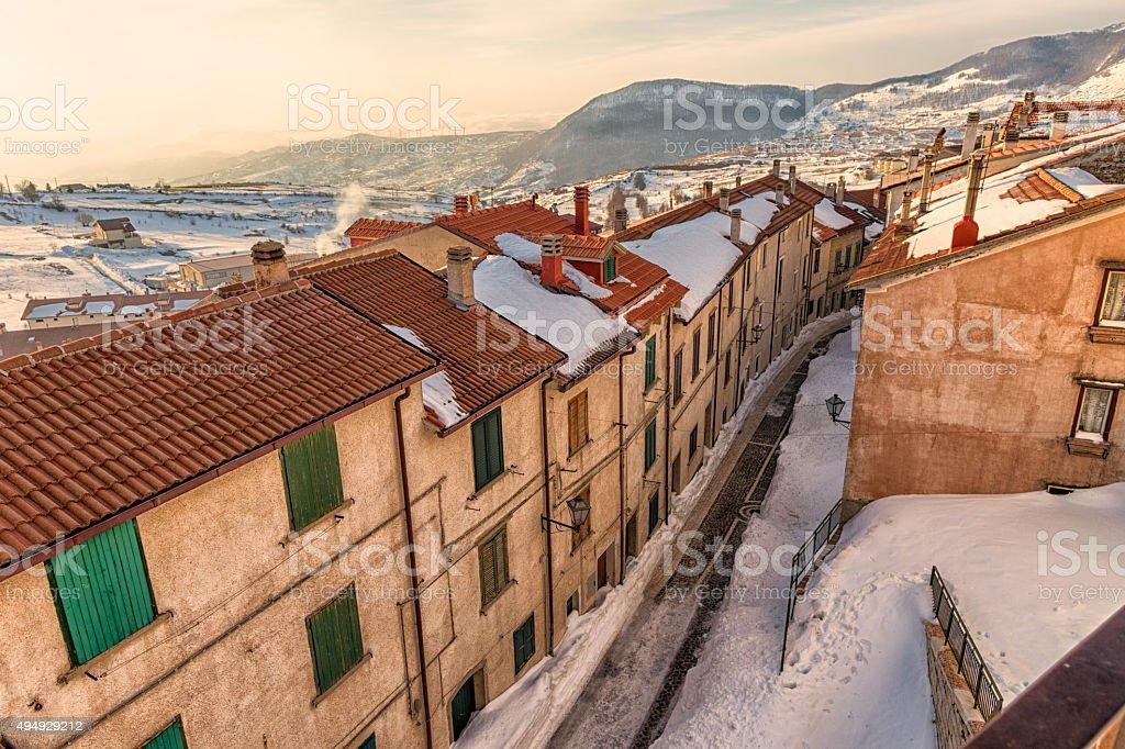 Italian village of Capracotta - Molise - Italy stock photo