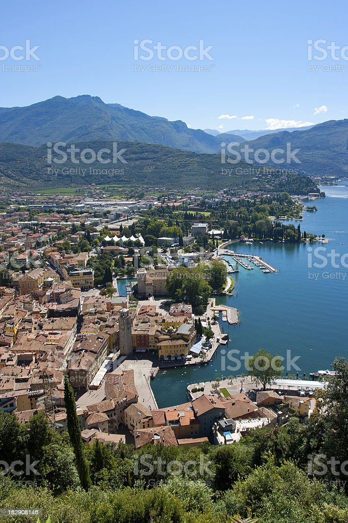 Italian Village of Riva del Garda,Italy stock photo