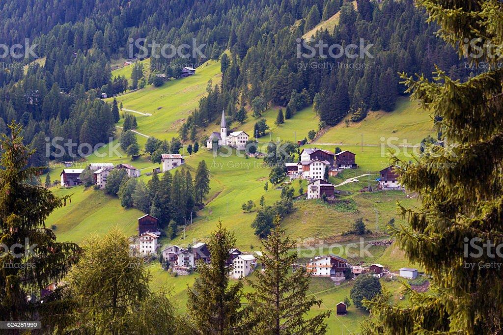 Italian village stock photo