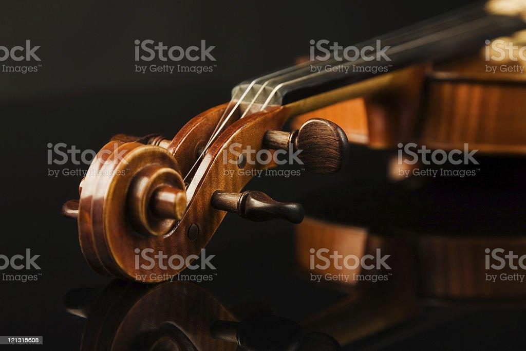 Italian violin over black royalty-free stock photo