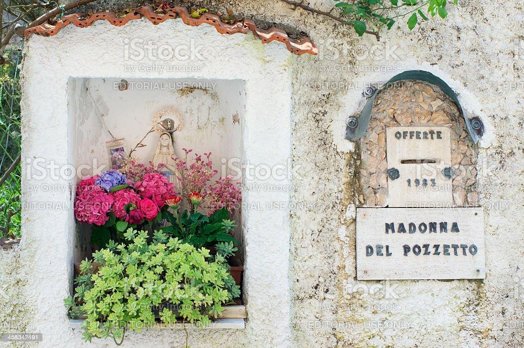 Italian votive statue for Holy Mary stock photo