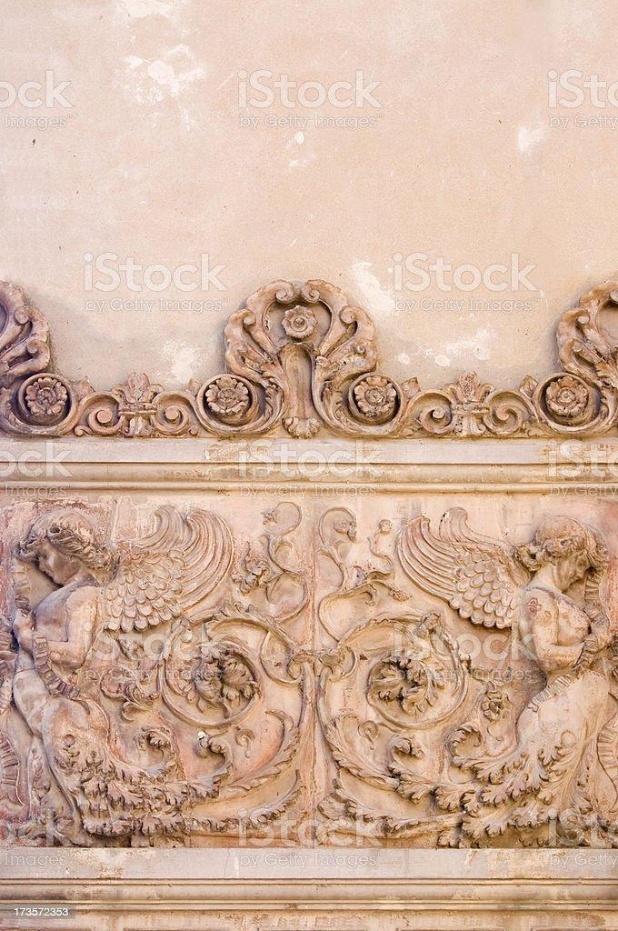 Italian Wall Frieze royalty-free stock photo