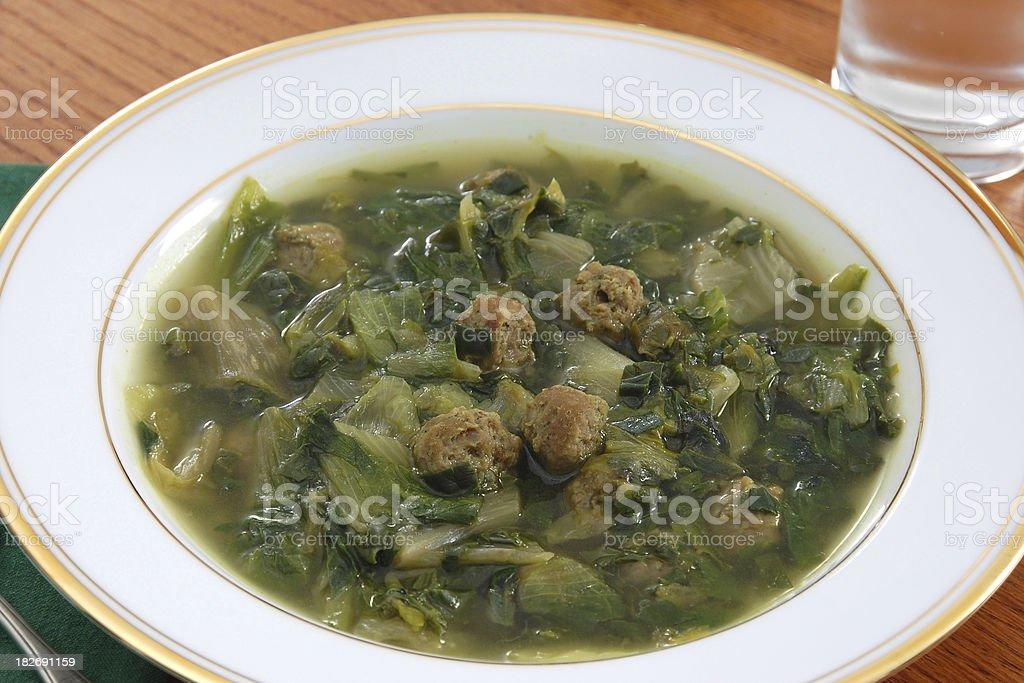 Italian Wedding Soup royalty-free stock photo