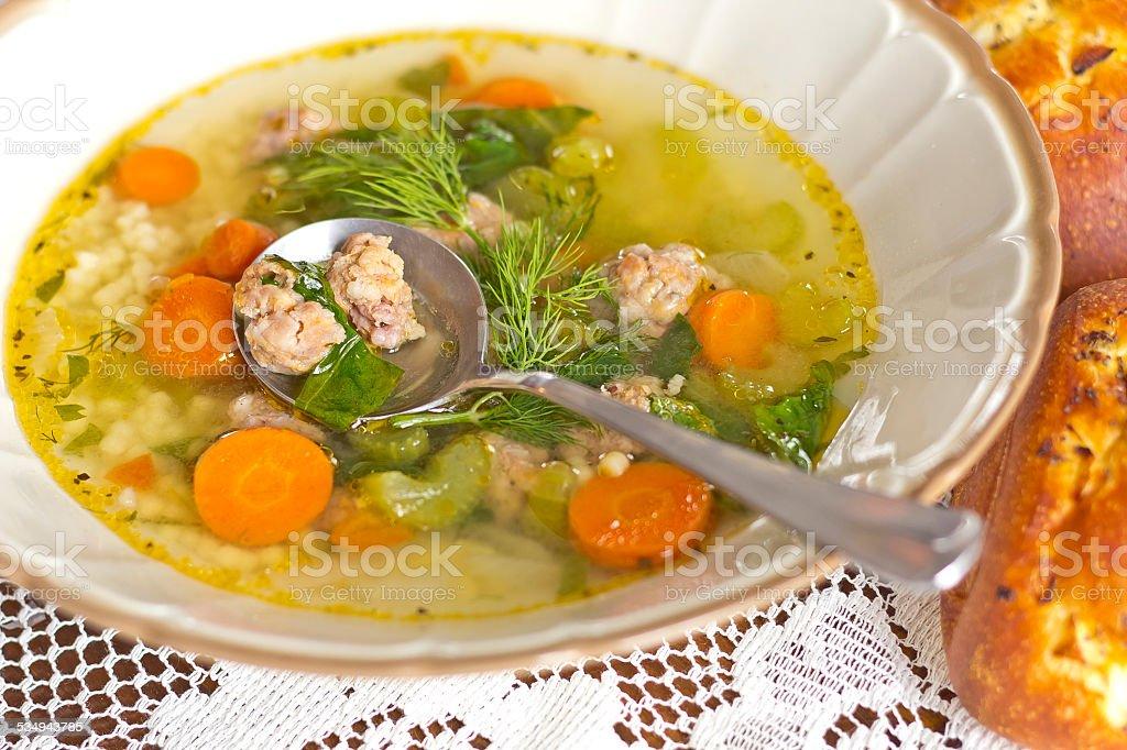 Italian Wedding Soup stock photo
