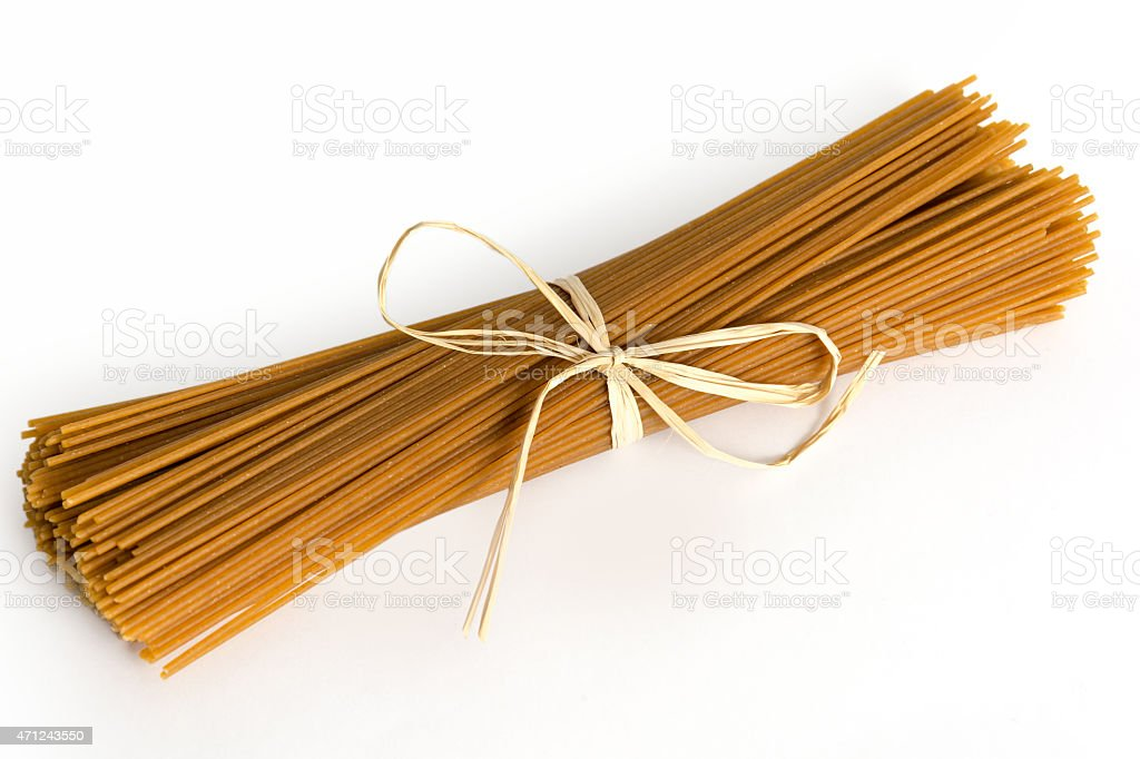 Italian wholegrain Pasta stock photo