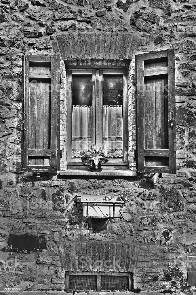 Italian Window stock photo