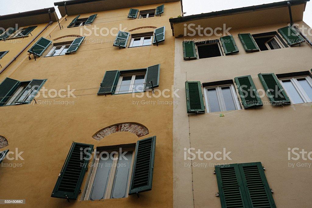 Italian windows stock photo