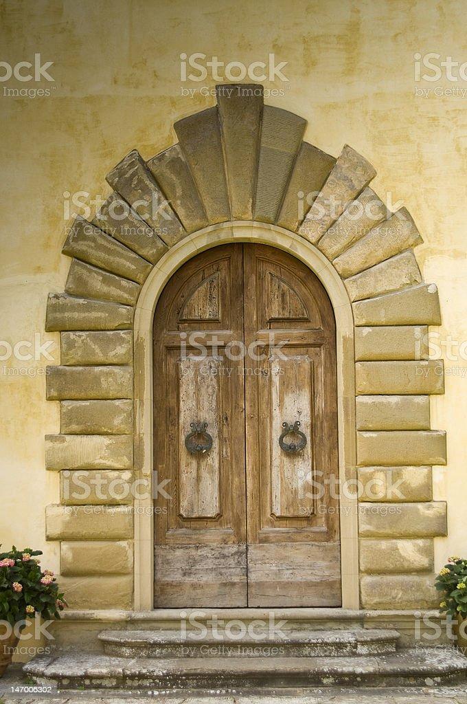 Italian Wooden Doors stock photo