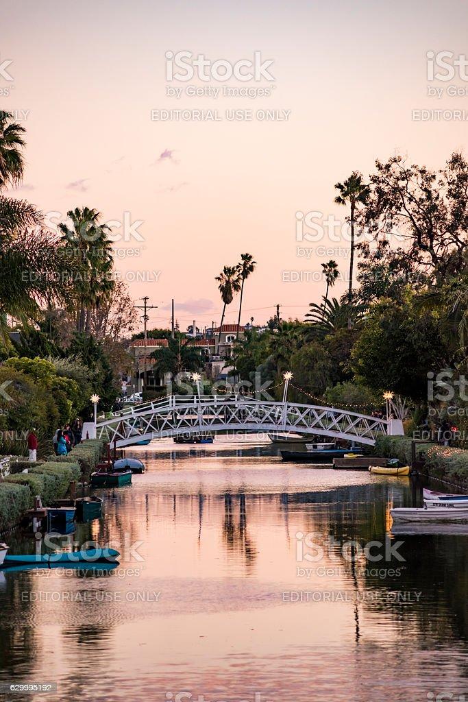 Italian-like canals in Venice, Los Angeles stock photo