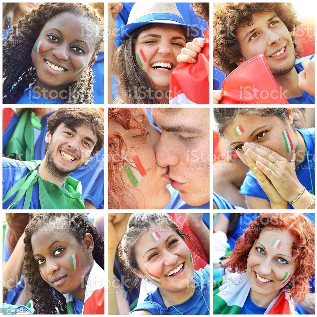 Italians fan royalty-free stock photo