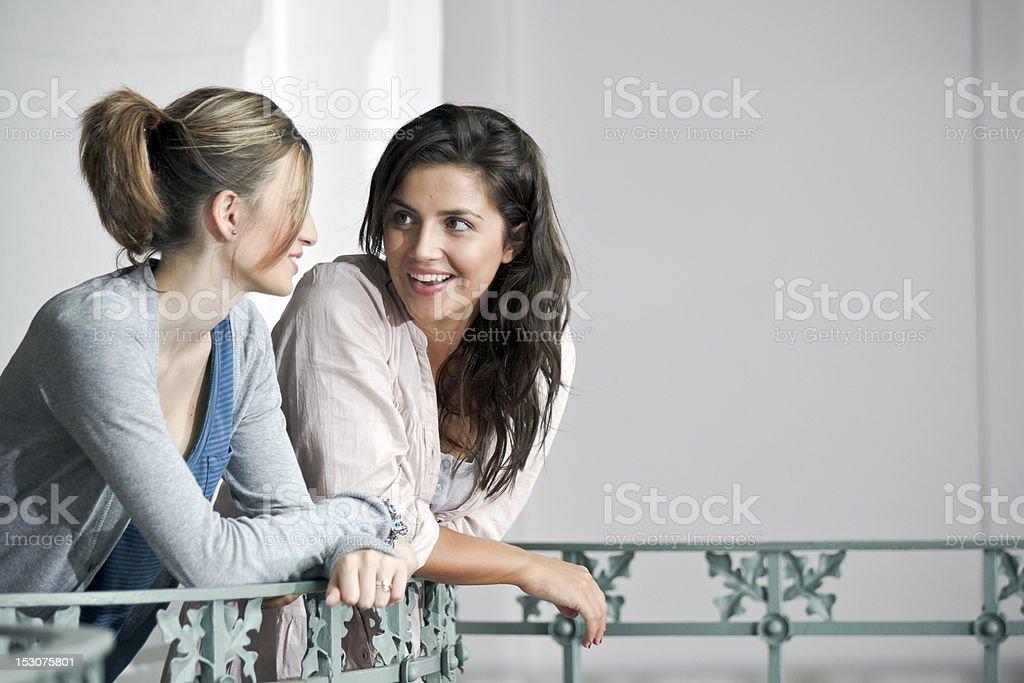 Italians Girls on the balustrade stock photo